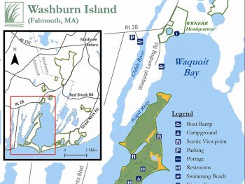 Waquoit Bay Headquarters map